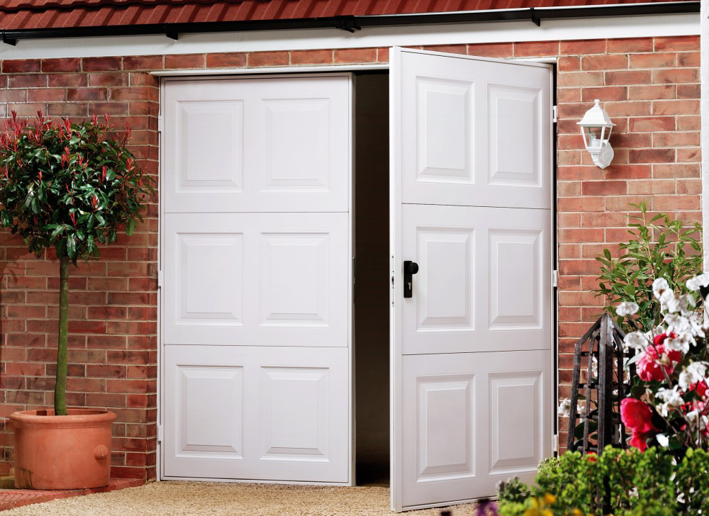 side hinged doors